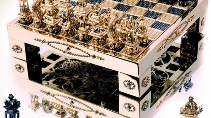 house of solid gold chess set diamond