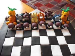 pokemon chess board cake 2