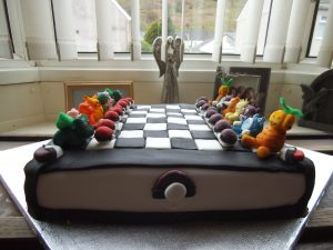 pokemon chess board cake 6