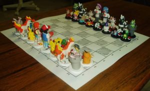 pokemon chess board figures