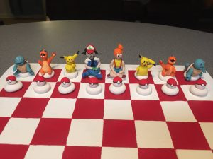 pokemon chess board set red