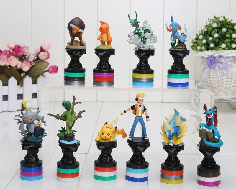 pokemon chess pieces set
