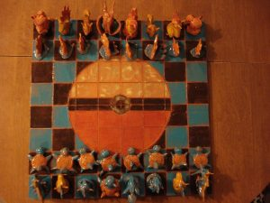 pokemon chess set ceramic