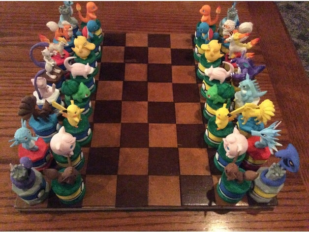 pokemon chess set colour