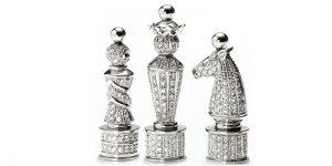 royal diamond chess figures white
