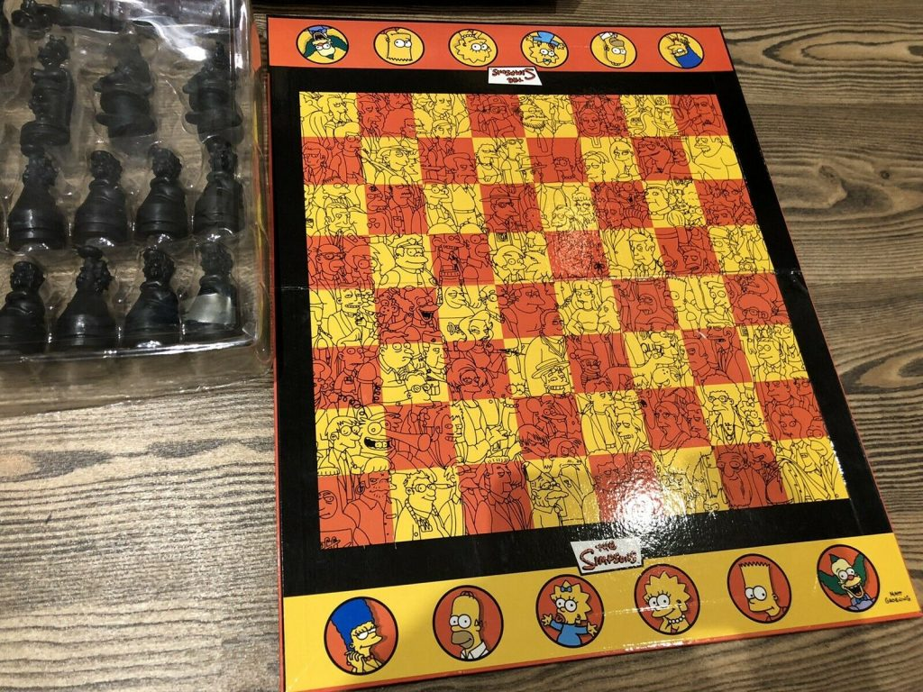 antique simpsons chess board