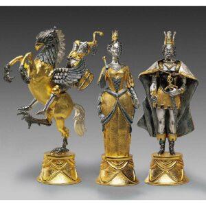 carolingi xiv chess figures golden