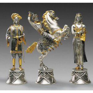 carolingi xiv chess set black