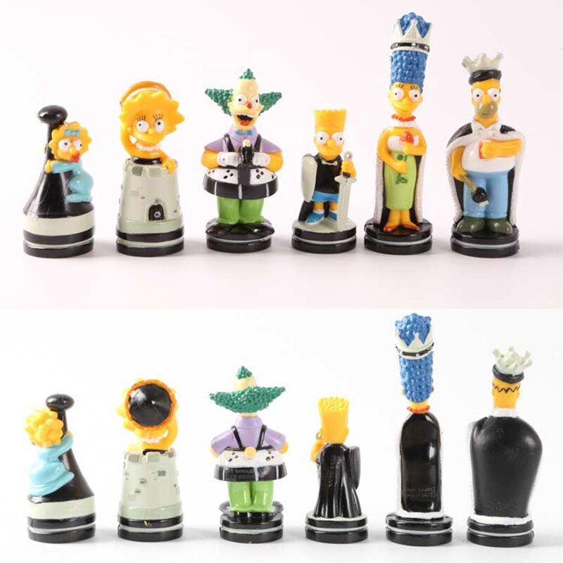 simpsons chess pieces