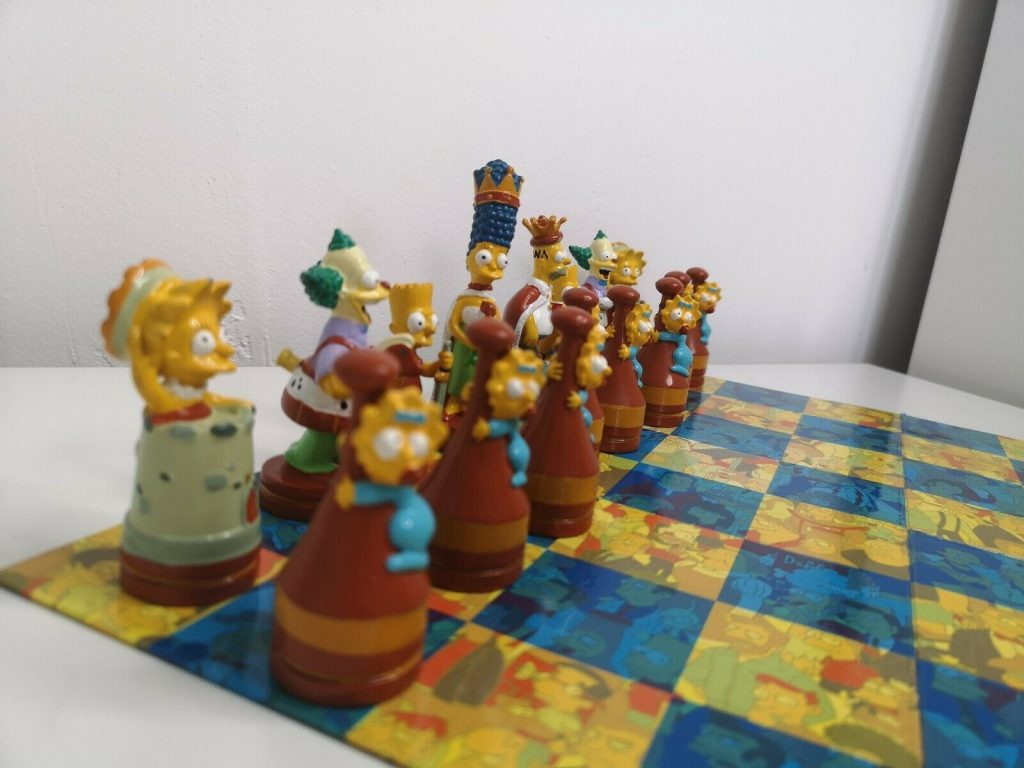 simpsons chess set 1988