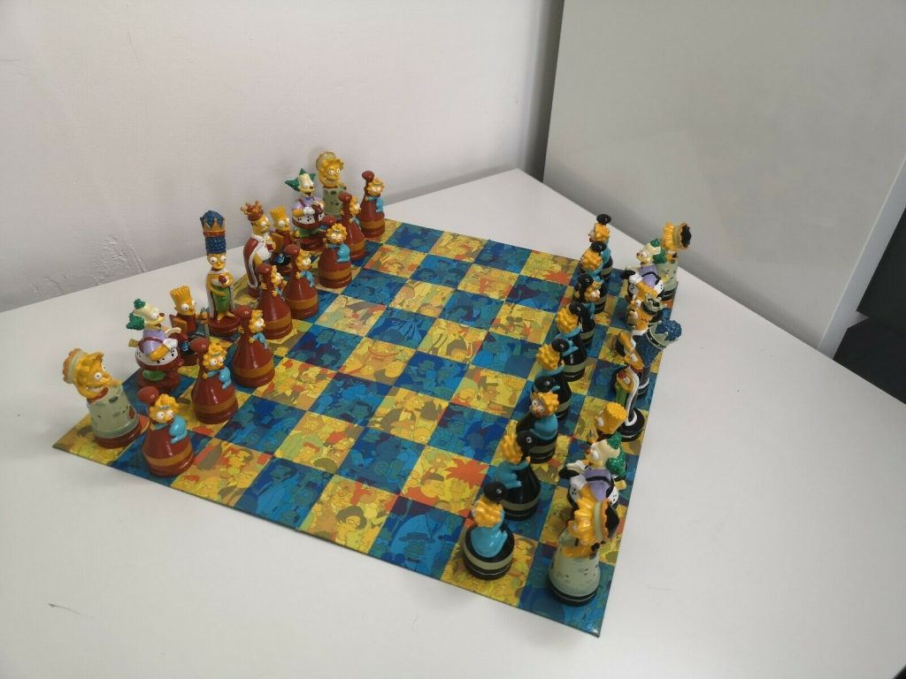 the simpsons chess board 1