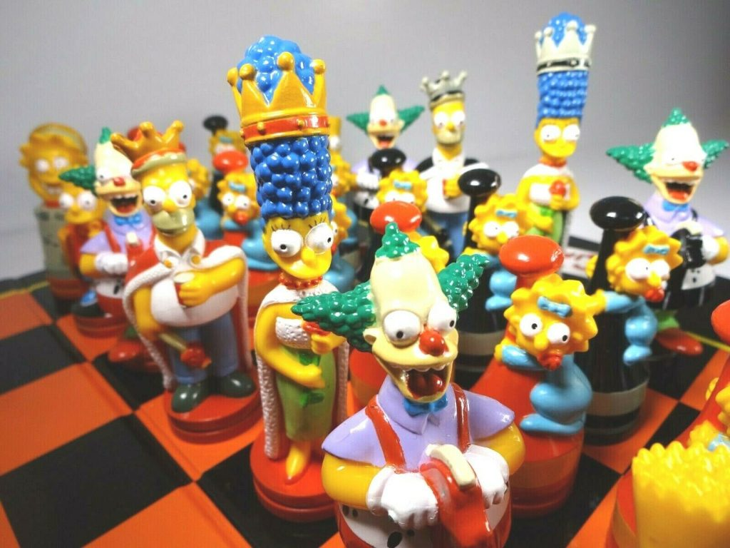 the simpsons chess board