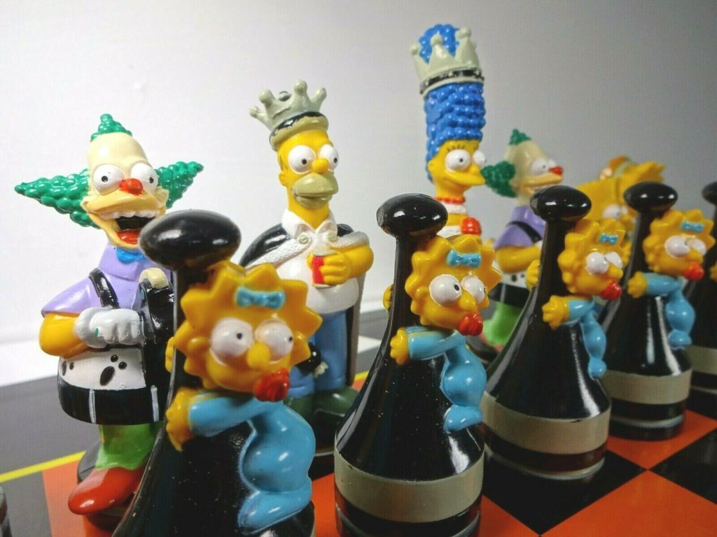 the simpsons chess pieces 1