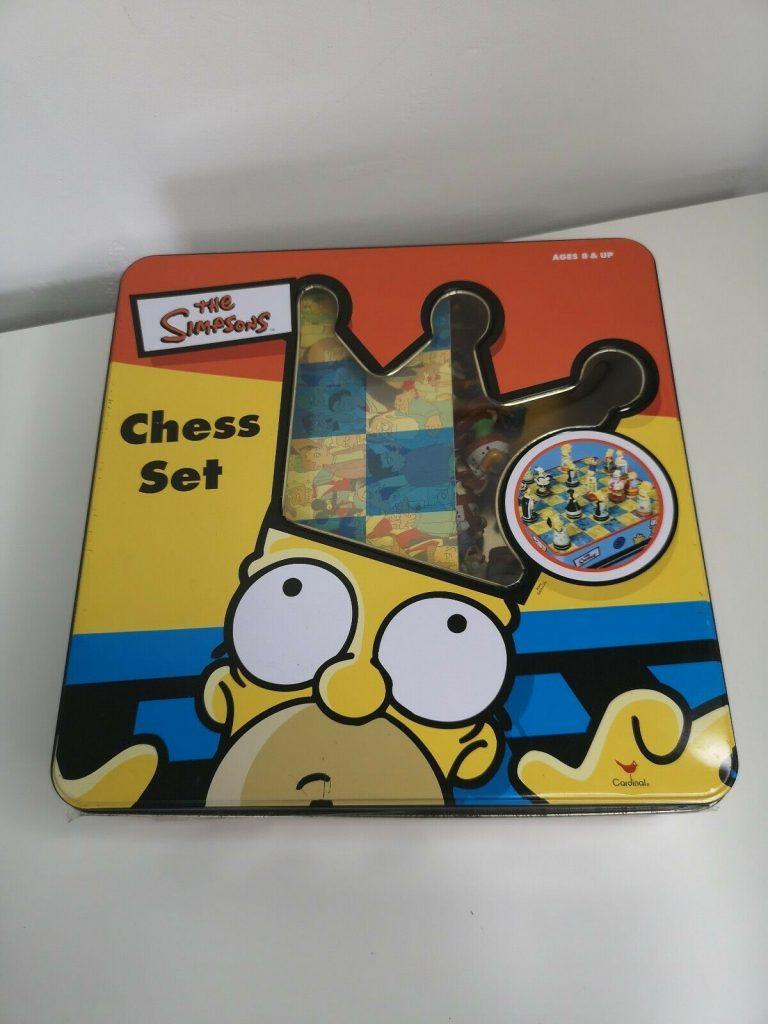 the simpsons chess set 1988 box