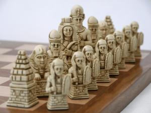Vintage Egyptian Chess Set