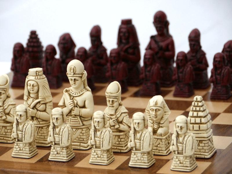 Vintage Egyptian Chess