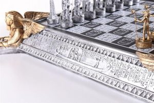 egyptian chess golden and silver