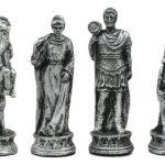 egyptian chess set black pieces