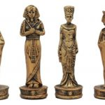 egyptian chess set white pieces