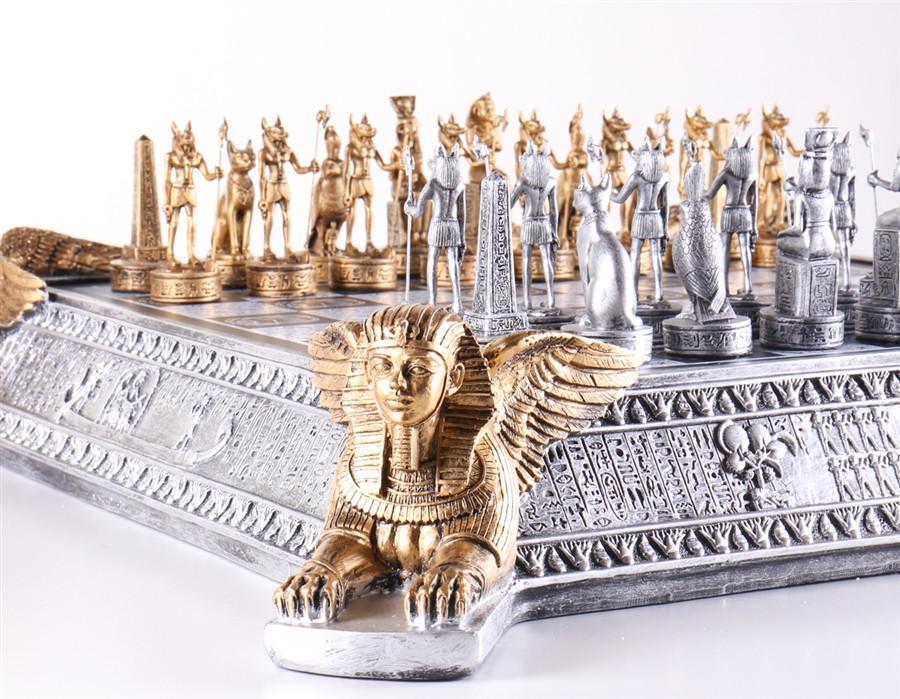 egyptian gold chess set