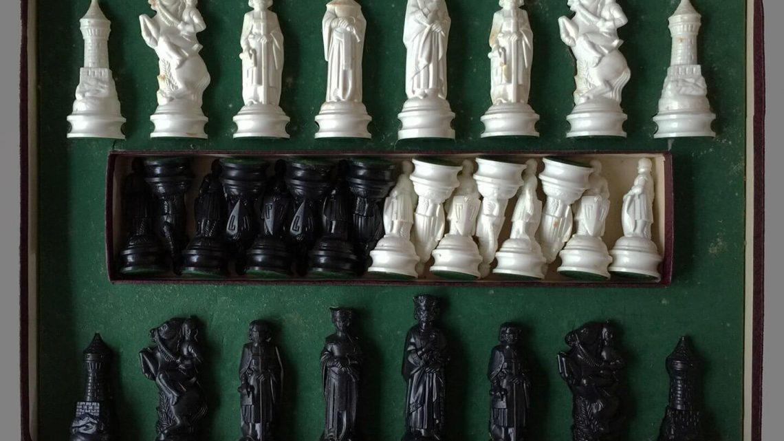 Vintage renaissance chess pieces