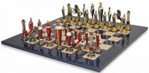 hand painted renaissance chess board