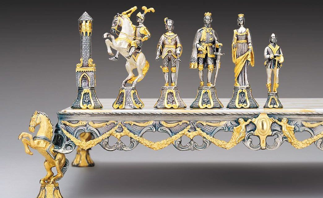 luxury renaissance chess pieces