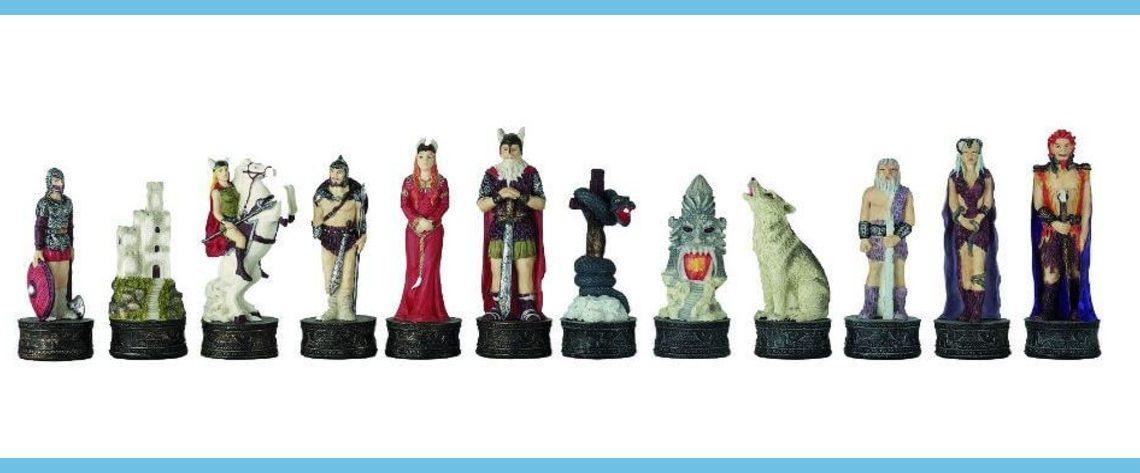 Norse mythology polystone chess set