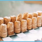 Norse mythology wooden chess pieces