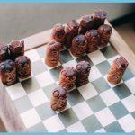 Norse mythology chess set