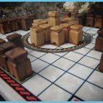 wood marble hnefatafl set