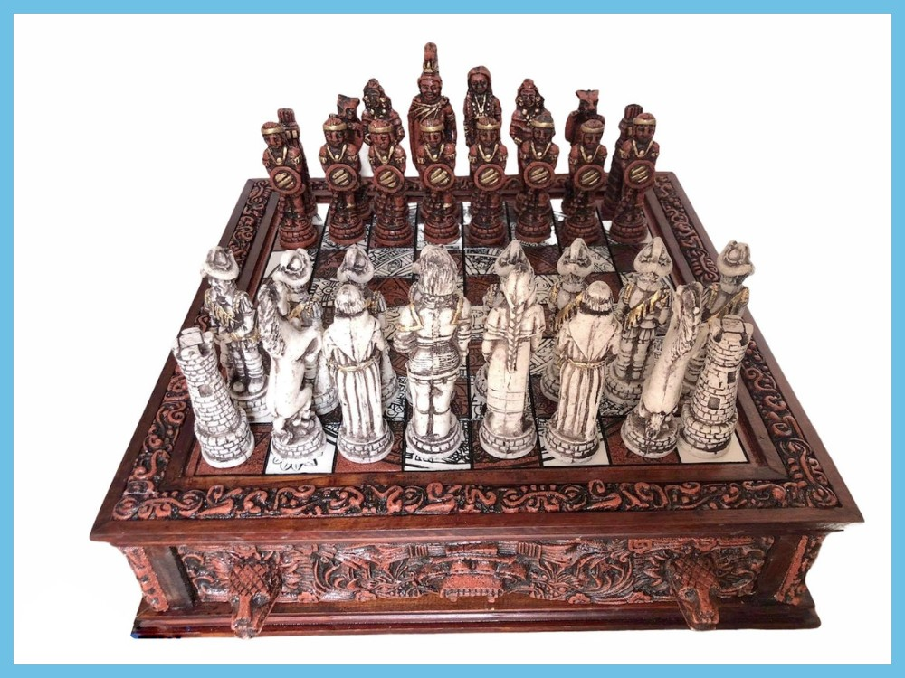 Culture Of Mexico Aztec Chess Set