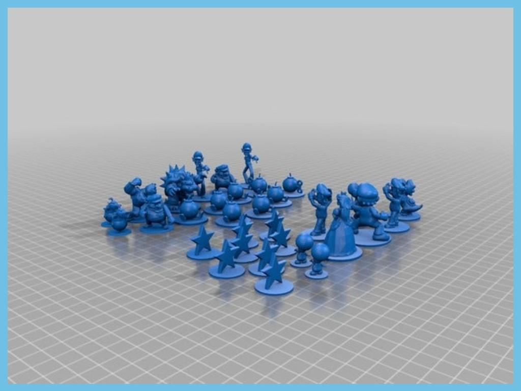 Mario Chess Pieces by Joycon_Gadget