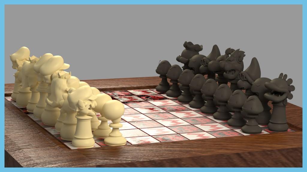 Mario Chess Set by Camtoonist