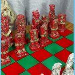 Mexican Aztec Vintage 70S Chess Set