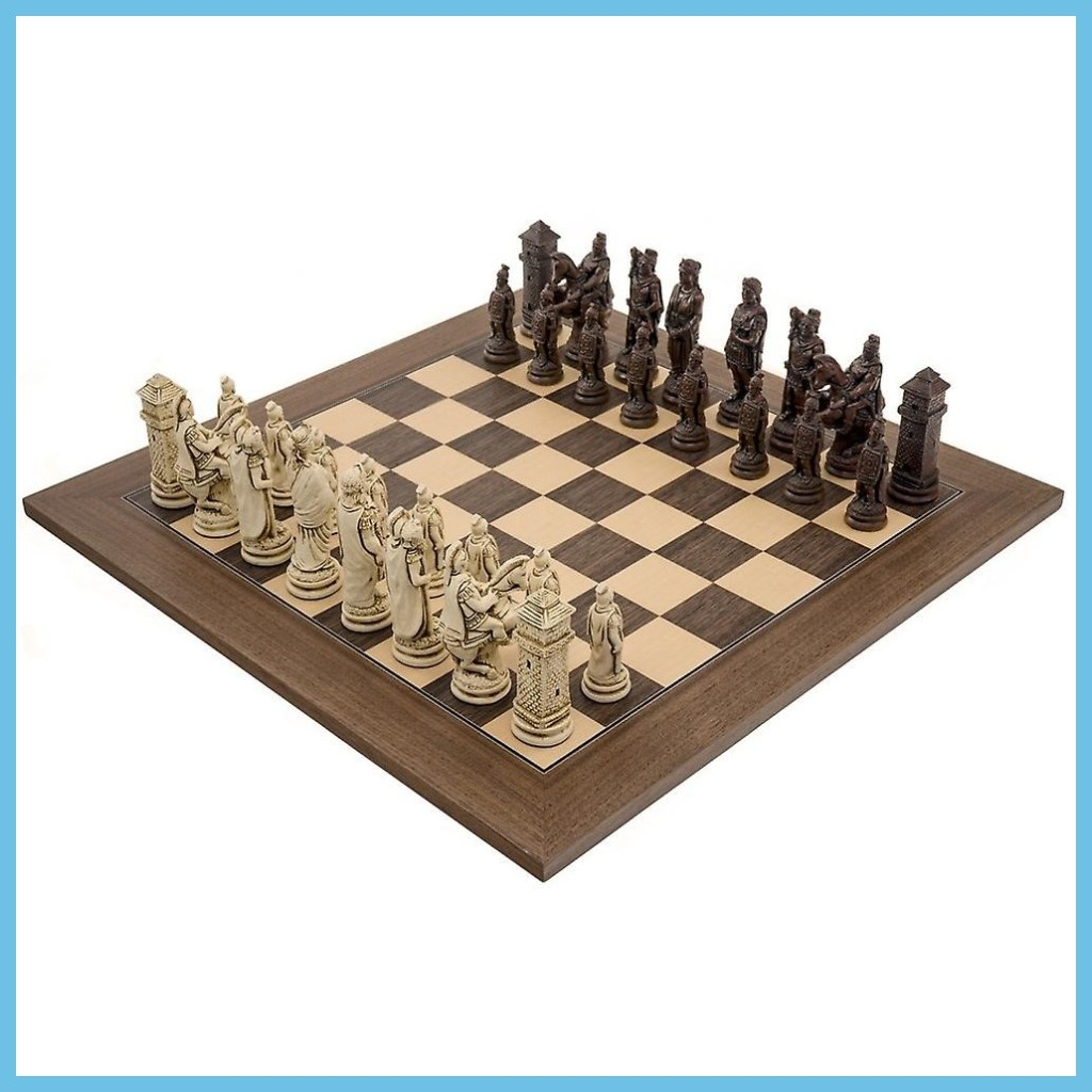 Roman Chess Pieces by Berkeley - Russet Brown