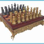 Roman Emperor Bust Theme Metal Chess Set